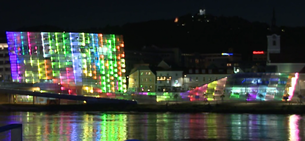 Ars Electronica Center Fassaden-Visualisierung